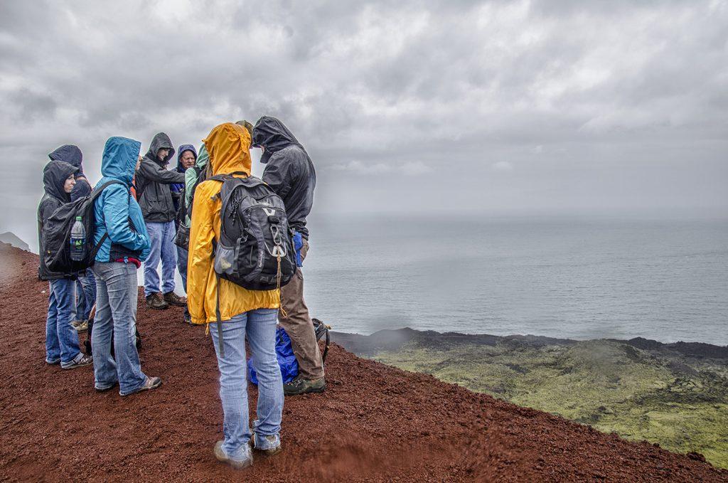 Group at Summit of Eldfell